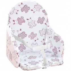 Looping Coussin Chaise Haute Sangles Lapin Cassis