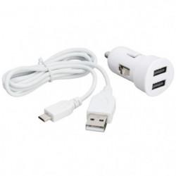 BBC mini chargeur allume-cigare USB 2A -  Blanc