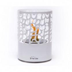 PURLINE ASTREA WHITE Cheminée bioéthanol de table design