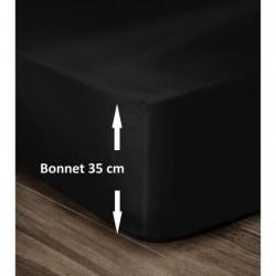 LOVELY HOME Drap Housse 100% Coton 180x200cm - Bonnet 35cm