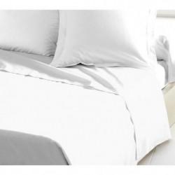 LOVELY HOME Drap Plat 100% coton 240x300 cm blanc