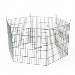 DUVO Parc 6 panneaux - 60x60 cm - Pour rongeurs