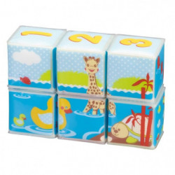 SOPHIE LA GIRAFE Cubes de Bain (lot de 6 cubes)