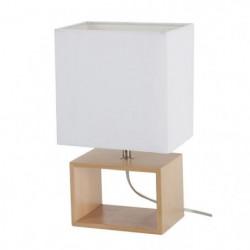 LIV-Lampe à poser Bois H31cm Blanc Corep