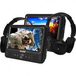 """D-JIX PVS906-70DPC Lecteur DVD portable 9"""" - 2 casques audio"""