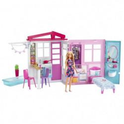 BARBIE - Barbie & Sa Maison a Emporter - Maison de Poupée