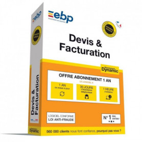 EBP Devis & Facturation DYNAMIC 12 mois + VIP