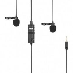 BOYA M1DM Double microphone lavalier - Sortie TRRS - Câble 4m