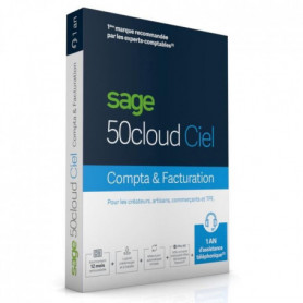 SAGE 50cloud COMPTA+FACTURATION - 1 an d'assistance
