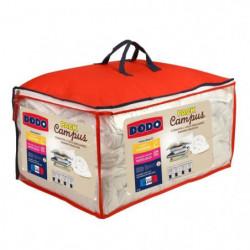 Pack CAMPUS 1 Couette tempérée 220x240 cm + 2 Oreillers 60x60