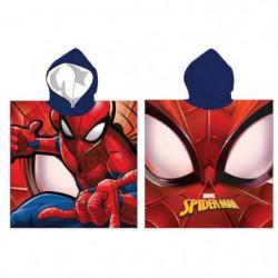 SPIDERMAN Poncho Microfibre 55x110cm - Rouge et Bleu