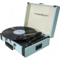 MADISON 10-5550MA Mallette tourne-disques - Bluetooth, USB