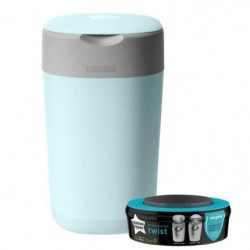 Tommee Tippee - Poubelle a couches Twist & Click - Bleu