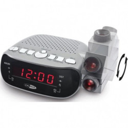 CALIBER HCG201 Radio réveil FM projecteur double alarme