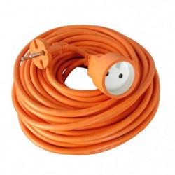 Rallonge électrique de jardin câble 10m 2x1,5mm² orange