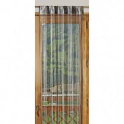 1 Rideau à fils paillettes bicolore 90x240cm Gris & Noir