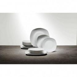 FINLANDEK Service vaisselle - Couleur blanc - 18 pieces