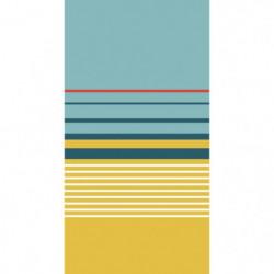 TODAY Drap de Plage 100% Coton 90x170 cm - Vert et jaune