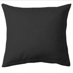 COTE DECO Taie d'Oreiller 100% coton 63x63 cm - Noir