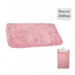 Tapis de bain 100% coton 45x75 xm Rose poudré