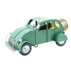 Porte bouteille métal voiture 2cv verte