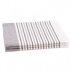 JULES CLARYSSE Lot de 3 torchons Timeless - 100% coton - 50x70cm