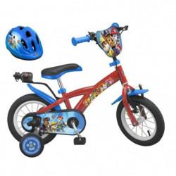 """PAT'PATROUILLE Vélo 12"""" + Casque - Enfant - Rouge et bleu"""
