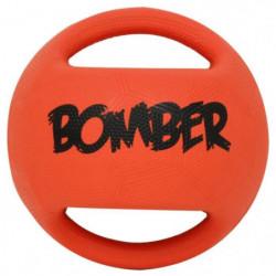 ZEUS Ballon Bomber 15 cm - Orange et noir - Pour chien