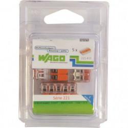 WAGO Pack de 5 Bornes de connexion universelle