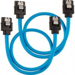 CORSAIR Câble gainé Premium SATA 6Gbps Bleu 30cm Droit