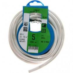 PROFIPLAST Couronne de câble 5 m HO5VVF 3G 1,5 mm2 Blanc