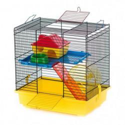 DUVO Cage Teddy 1 Color - 36x24x36 cm - Jaune et noir