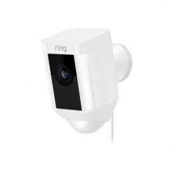 RING Caméra de surveillance filaire Spotlight - Blanc