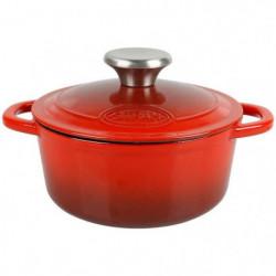 SITRAM - 712393 cocotte fonte émaillée ronde 1.2l rouge