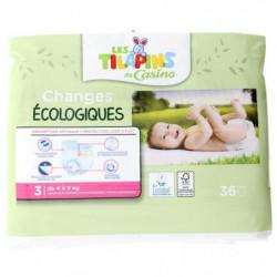 Les Tilapins couches écologiques T3x36 couches
