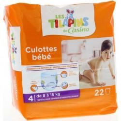 LES TILAPINS Culottes bébé Taille 4 - 8 à 15kg - 22 couches