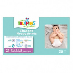 LES TILAPINS Couches Mini Taille 2 - 3 a 6kg - 35 couches