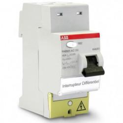 ABB Interrupteur différentiel a bornes décalées type AC 40 A