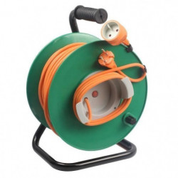 ZENITECH Enrouleur électrique 40m sans prise 2x1,5 mm²