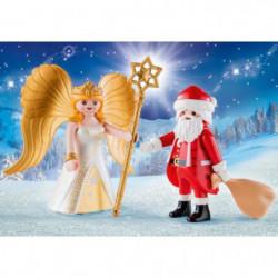 PLAYMOBIL 9498 - Christmas - PLAYMOBIL Duo Pere Noël et Ange