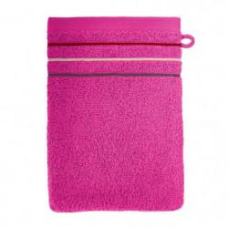 SANTENS Lot de 2 gants de toilette Teline Fuchsia 2x16x22 cm