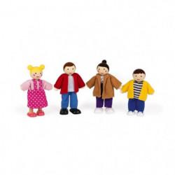 JANOD Coffret de Personnages pour maison de poupée - 4 pieces