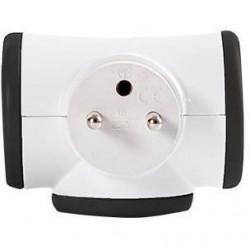 WATT&CO Bloc prise Triplite 3x16A rotatif  Noir
