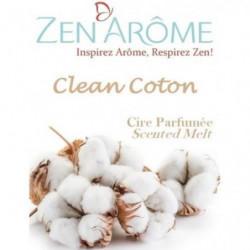 ZEN'AROME Cire Parfumée Clean Coton - Parfum d'Ambiance