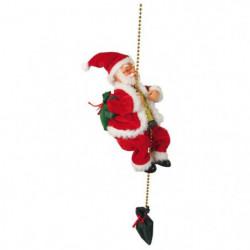 Personnage de Noël : Pere Noël grimpeur - Monte et descend