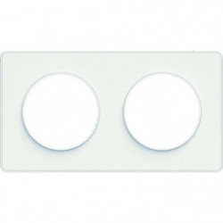 SCHNEIDER ELECTRIC Plaque de finition 2 postes Odace Touch