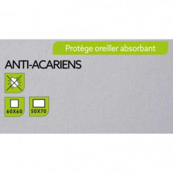 TODAY Protege Oreiller Absorbant Anti-Acariens 60x60cm