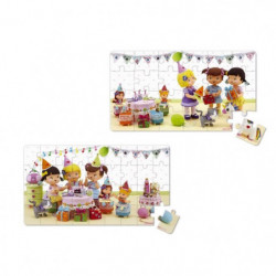 JANOD Lot de 2 Puzzles Lovely ''Juliette joue