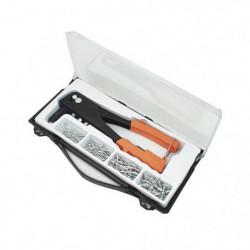 MANNESMANN Kit de pince a riveter + 100 rivets + 4 embouts