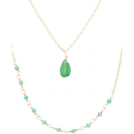 """Collier """"Paola"""" Agate vert"""